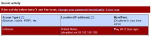 Gmail account under attack