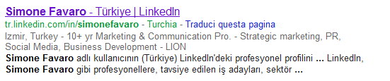 LinkedIN - Headline is used for indexing your profile on Search Engines