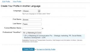 Creare un profilo Multilingua in LinkedIN - step 1