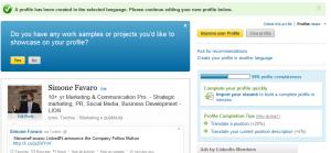 Creare un profilo multilingua in LinkedIN - step 2