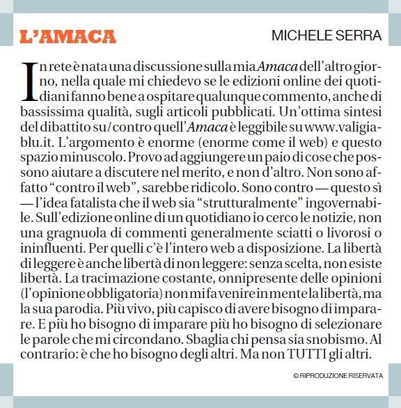 Michele Serra - amaca 14 luglio