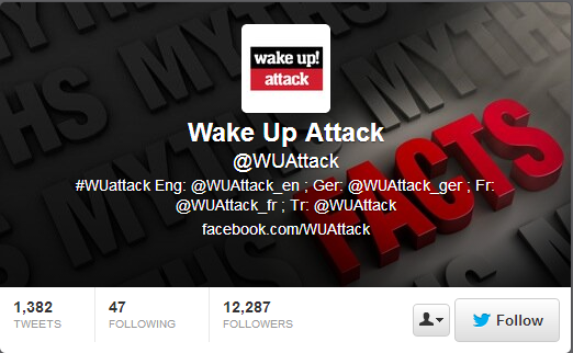 WakeUp Attack Twitter account